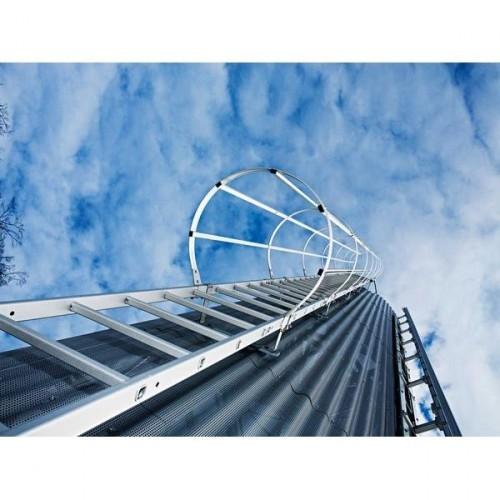 Guenzburger Mehrzuegige Steigleitern mit Rueckenschutz Aluminium eloxiert, 500175