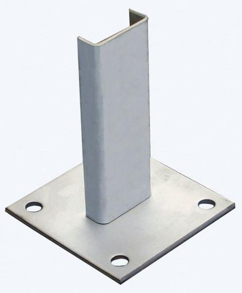 STABILO Ortsfeste Leitern, Systemteile, Fußplatte 120x120 mm, Stahl verzinkt, 835123