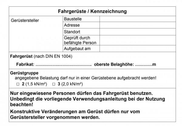 STABILO Kennzeichnungsblatt FahrGerüste 25 St., 202345