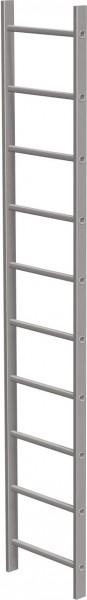 STABILO Ortsfeste Leitern, Systemteile, Leiternteil 2,80 m Aluminium, 838018