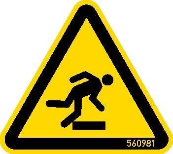 STABILO Hinweisschild Warnschild Hindernis 50mm, 5 Stück, 202048