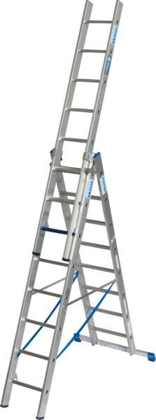 STABILO VielzweckLeiter + S ( Sicherheit ) 3x8 Sprossen/Stufen, 131652