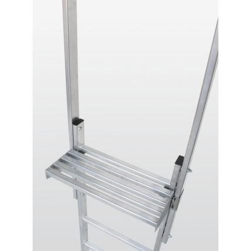 Guenzburger Ausstiegstritt Stahl verzinkt Spaltmass 300mm, 63970