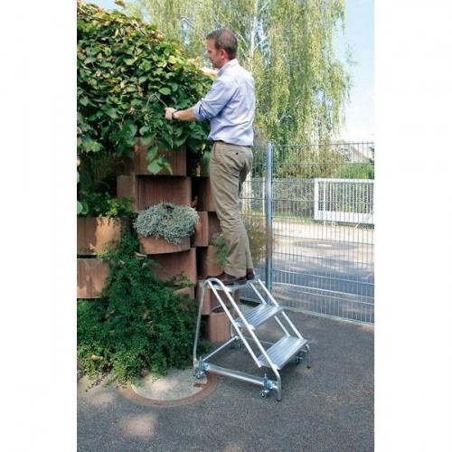 Guenzburger Aluminium-Arbeitspodest einseitig begehbar, 2 Stufen, 50050