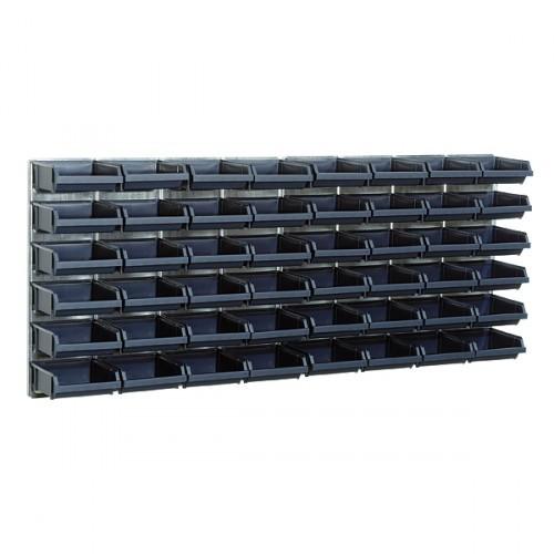 Raaco Sichtboxen-Wandpaneel x 2 + 48 Sichtboxen 2-80, 181204