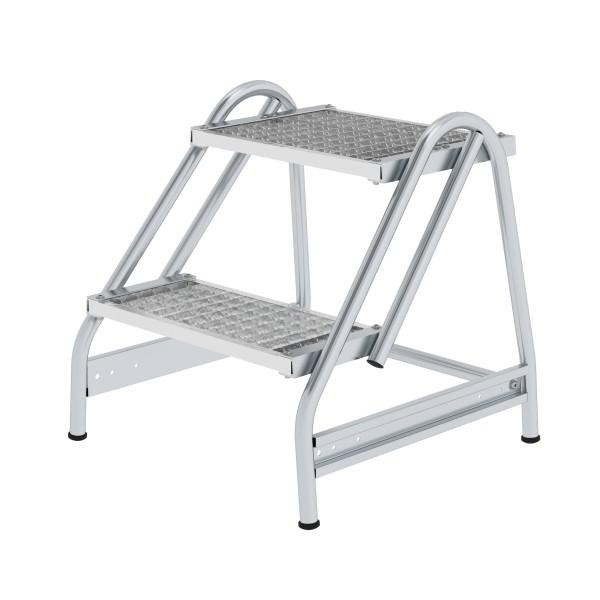 Günzburger Aluminium-Arbeitspodest einseitig begehbar, 2 Stufen, 50053