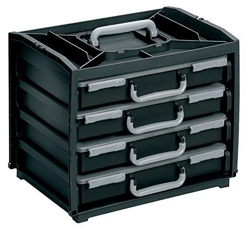 Raaco HandyBox 55x4 schwarz/silber, 137225