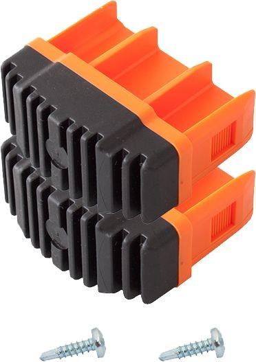 MONTO Fußstopfen (Paar) 64x25 mm, orange, für MONTO Anlege-, Schiebe-, Mehrzweck- und GelenkLeitern, Artikel-Nr.: 211149