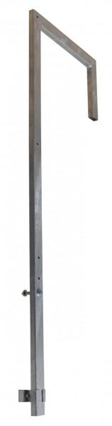 STABILO Ortsfeste Leitern, Systemteile, Ausstiegsgeländer (abgewinkelt) für Aluminium-Steigleiter, Artikel-Nr.: 838216