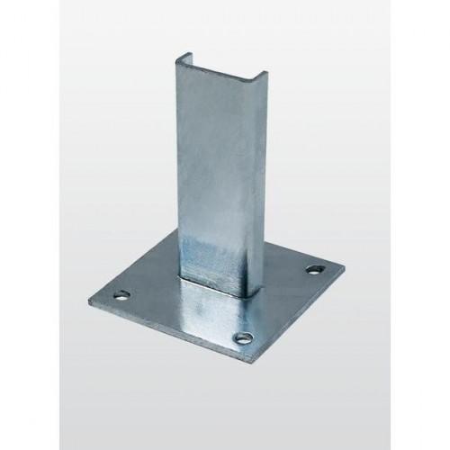 Guenzburger Fussplatte Stahl verzinkt, 63253